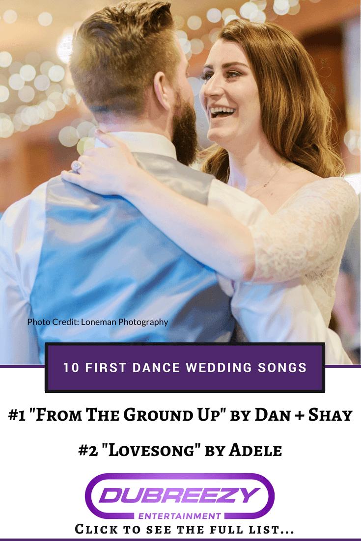 bride groom first dance songs