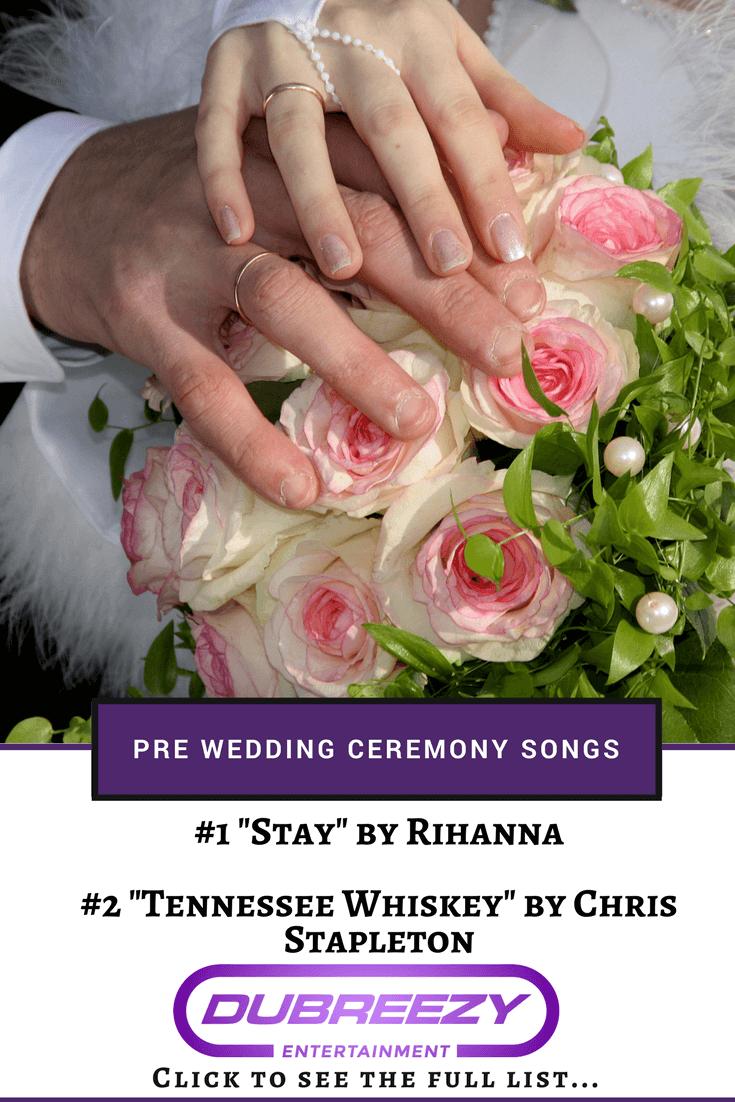 pre wedding ceremony songs pin