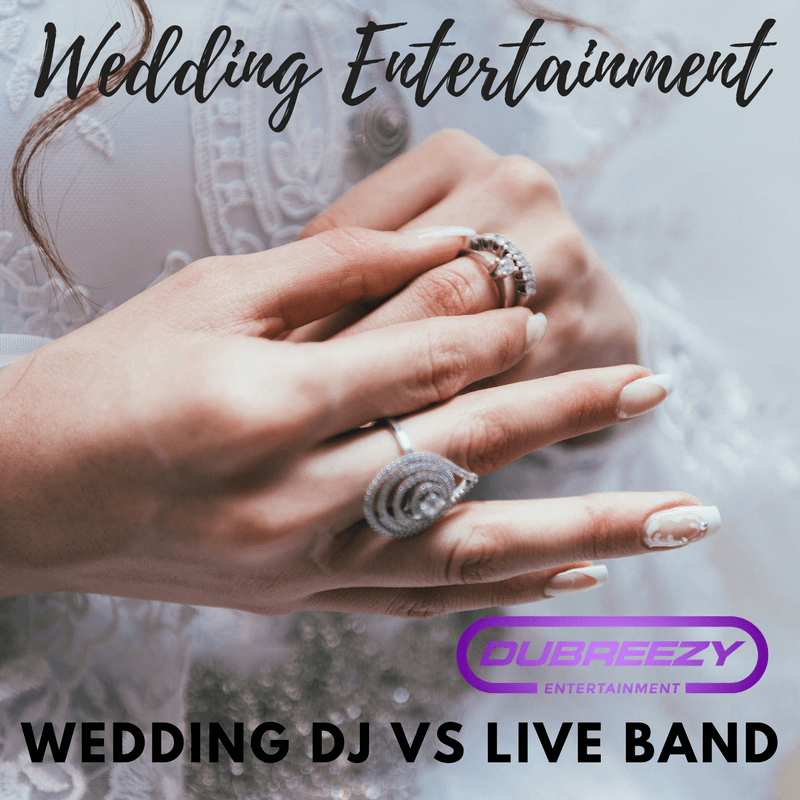 wedding entertainment wedding dj vs live band pin