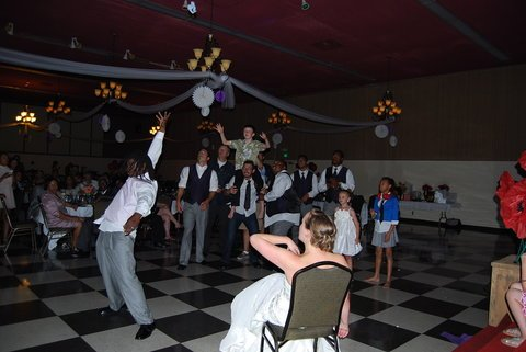 afifi shrine wedding garter toss