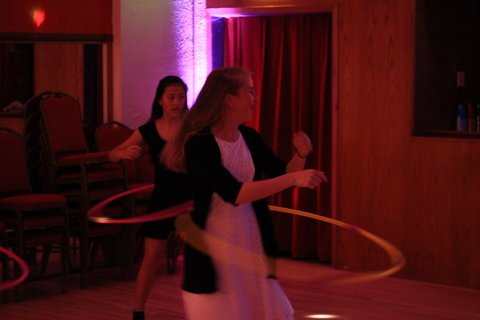 Hula hoop contest at a Bar Mitzvah party in Seattle with DJ Dubreezy