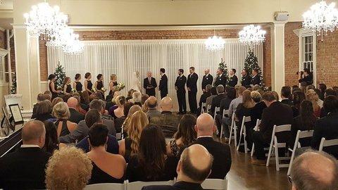 hollywood schoolhouse wedding ceremony