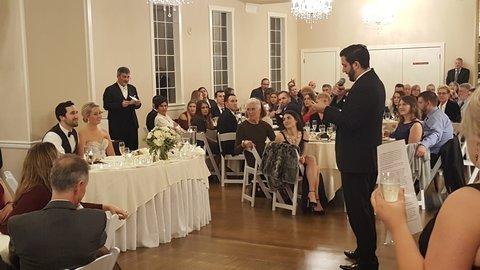 hollywood schoolhouse wedding toast